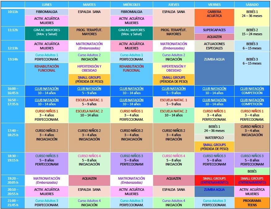 Horario y actividades piscina climatizada diciembre 2012 for Horario piscina alaquas