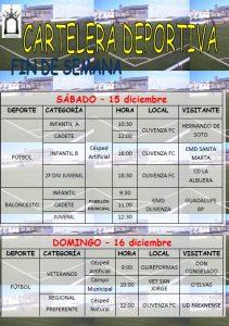 Actividades Deportivas 15-16 Dic