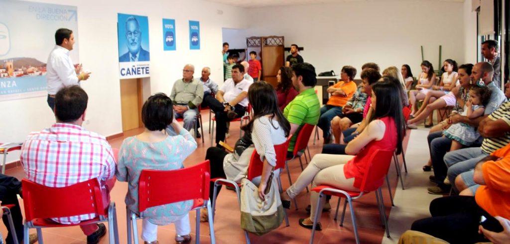 Mitín en el centro cultural de San Benito -elecciones europeas 2014-