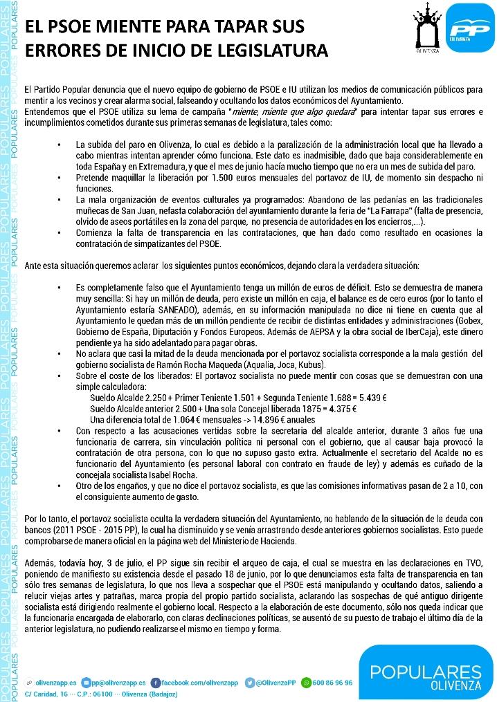 COMUNICADO 03-07-2015