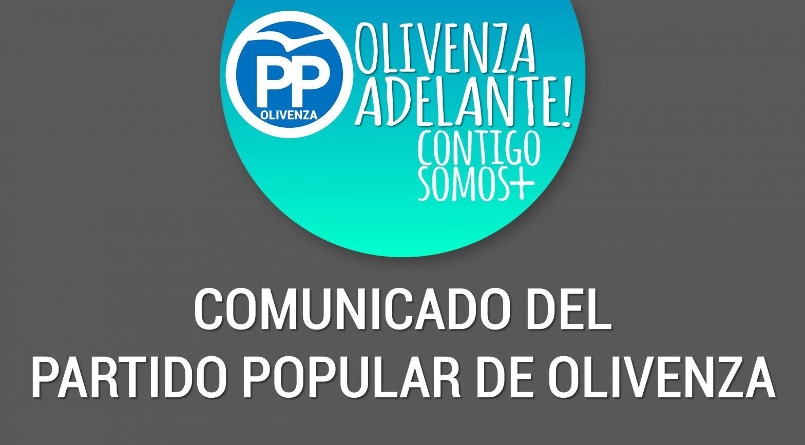 Comunicado del Partido Popular de Olivenza